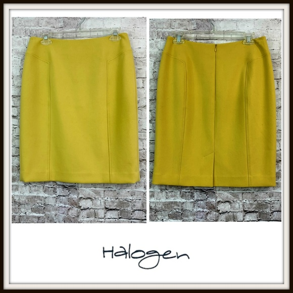Halogen Dresses & Skirts - Halogen Yellow Stretch Pencil Career Skirt